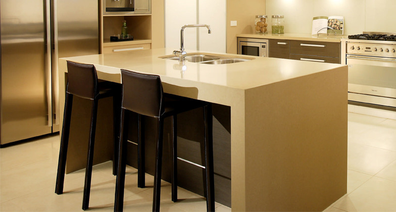 Cream Quartz Worktop