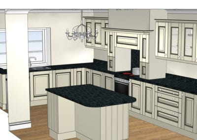 Traditional Cream Shaker Painted Kitchen