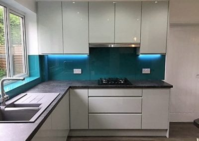 High Gloss Light Grey Modern Contemporary Kitchen