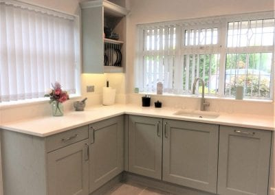 Ashbourne Light Blue Painted Wood Kitchen