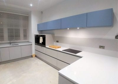 Denim & Light Grey Kitchen