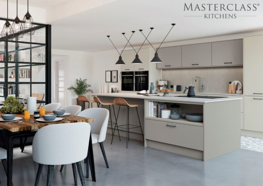 Image of an all-white kitchen design.