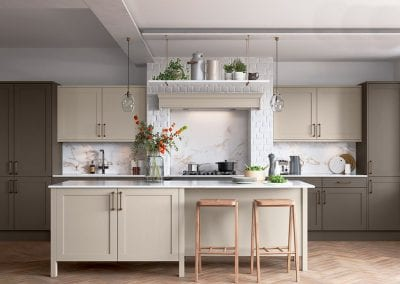 Image of a traditional kitchen design with a neutral colour palette.