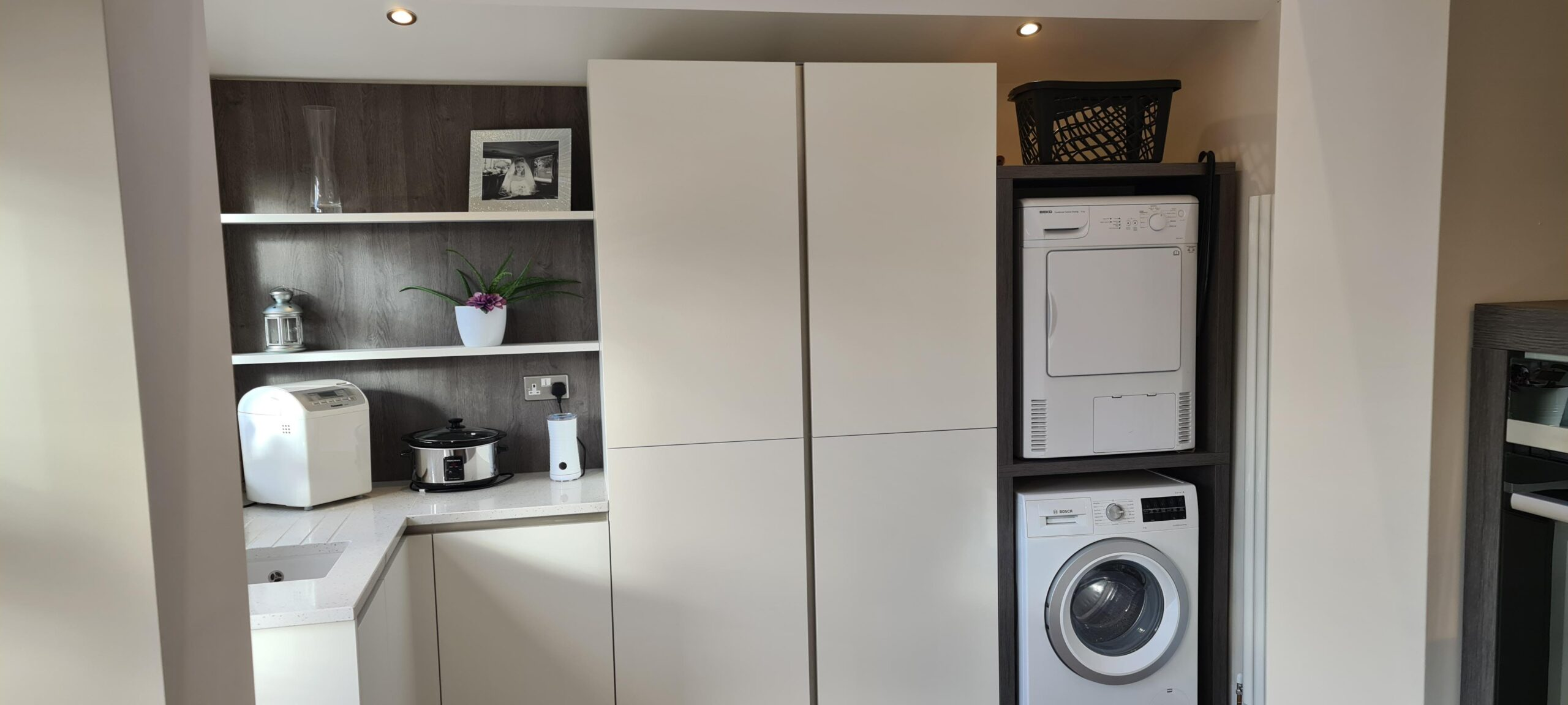 An image of a kitchen utilising all available space